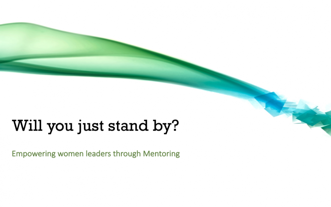 Will you just stand by and wait for Gender Parity or help make it a reality??