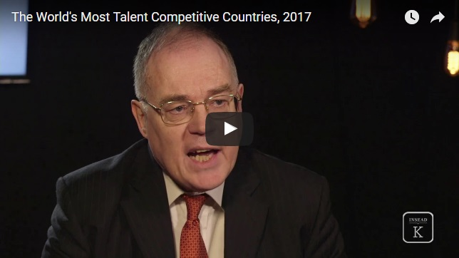 The World's Most Talent Competitive Countries, 2017