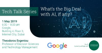 Tech Talk @ Google: What's the Big Deal with AI, if any?