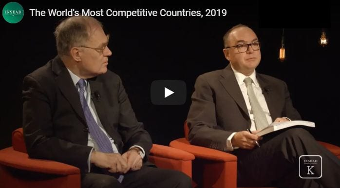 The World's Most Talent Competitive Countries, 2019