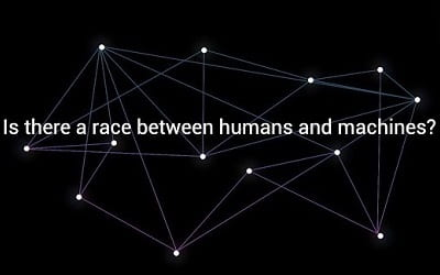 Is there a race between humans and machines?