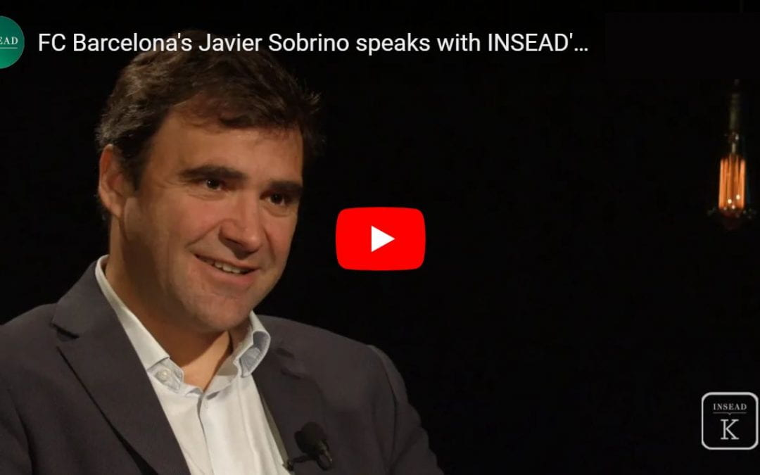 FC Barcelona's Javier Sobrino speaks with INSEAD's Felipe Monteiro about the Barca Innovation Hub