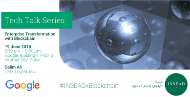 Tech Talk @ Google: Enterprise Transformation with Blockchain