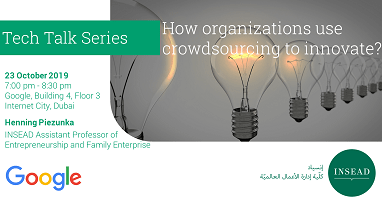 Tech Talk @ Google: How organizations use crowdsourcing to innovate?