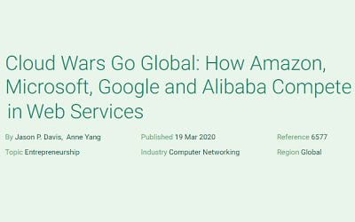 Cloud Wars Go Global: How Amazon, Microsoft, Google and Alibaba Compete in Web Services