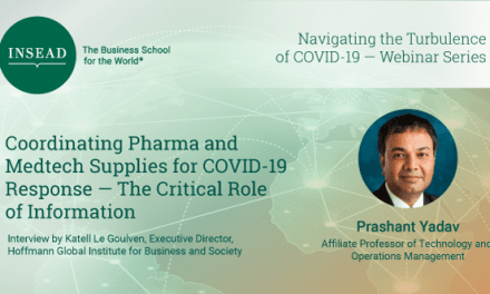 Coordinating Pharma and Medtech supplies for Covid-19