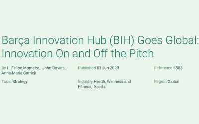 Barça Innovation Hub (BIH) Goes Global: Innovation On and Off the Pitch