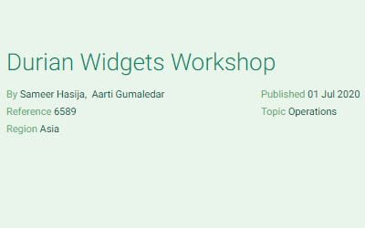 Durian Widgets Workshop