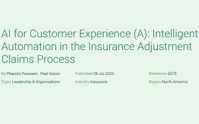 AI for Customer Experience (A): Intelligent Automation in the Insurance Adjustment Claims Process