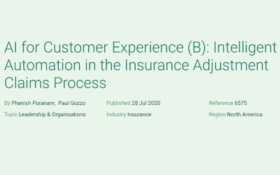AI for Customer Experience (B): Intelligent Automation in the Insurance Adjustment Claims Process
