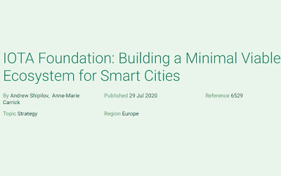 IOTA Foundation: Building a Minimal Viable Ecosystem for Smart Cities