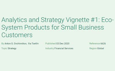 Analytics and Strategy Vignette #1: Eco-System Products for Small Business Customers