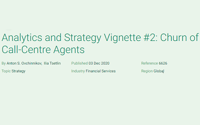 Analytics and Strategy Vignette #2: Churn of Call-Centre Agents