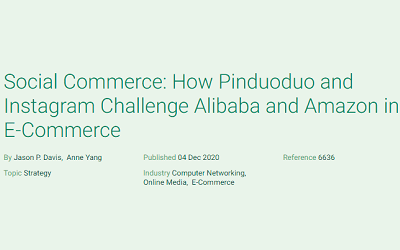 Social Commerce: How Pinduoduo and Instagram Challenge Alibaba and Amazon in E-Commerce