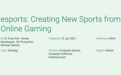 esports: Creating New Sports from Online Gaming