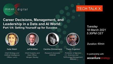 Webinar Series: Career Decisions, Management, and Leadership in a Data and AI World. Part 1/4 Setting Yourself up for Success