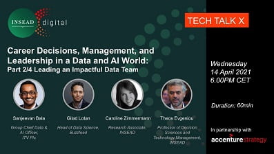 Webinar Series: Career Decisions, Management, and Leadership in a Data and AI World. Part 2/4 Leading an Impactful Data Team