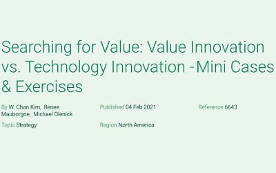 Searching for Value: Value Innovation vs. Technology Innovation – Mini Cases & Exercises