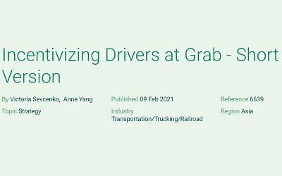 Incentivizing Drivers at Grab – Short Version