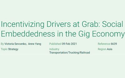 Incentivizing Drivers at Grab: Social Embeddedness in the Gig Economy