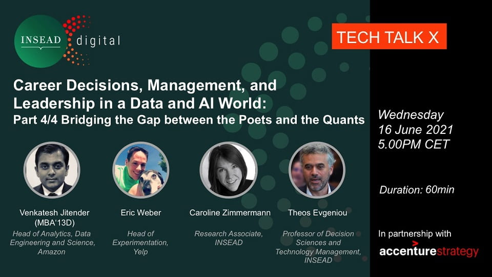 Webinar Series: Career Decisions, Management, and Leadership in a Data and AI World. Part 4/4 Bridging the Gap between the Poets and the Quants