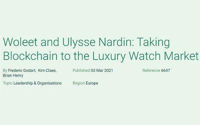 Woleet and Ulysse Nardin: Taking Blockchain to the Luxury Watch Market