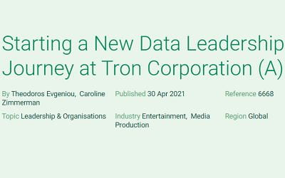 Starting a New Data Leadership Journey at Tron Corporation (A)