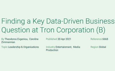 Finding a Key Data-Driven Business Question at Tron Corporation (B)