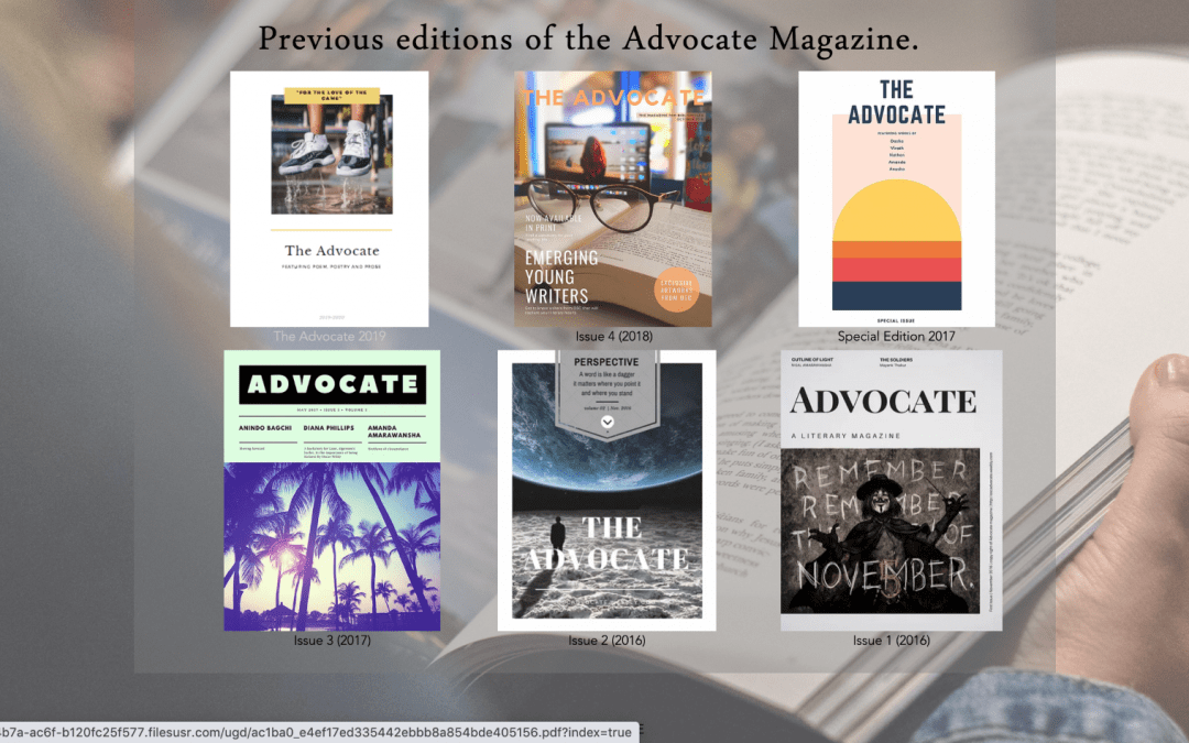 The Advocate – a new start