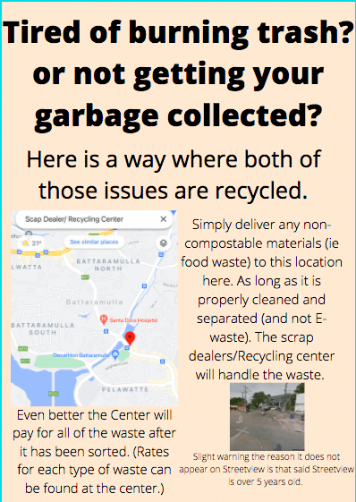 11 Febuary 2021- sustainability club cap stone project (poster and possible delivery of waste to center)