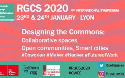 """4th International symposium RGCS 2020, """"Designing the Commons: Collaborative spaces, Open communities, Smart cities"""" – @Lyon, France – 23rd-24th January 2020"""