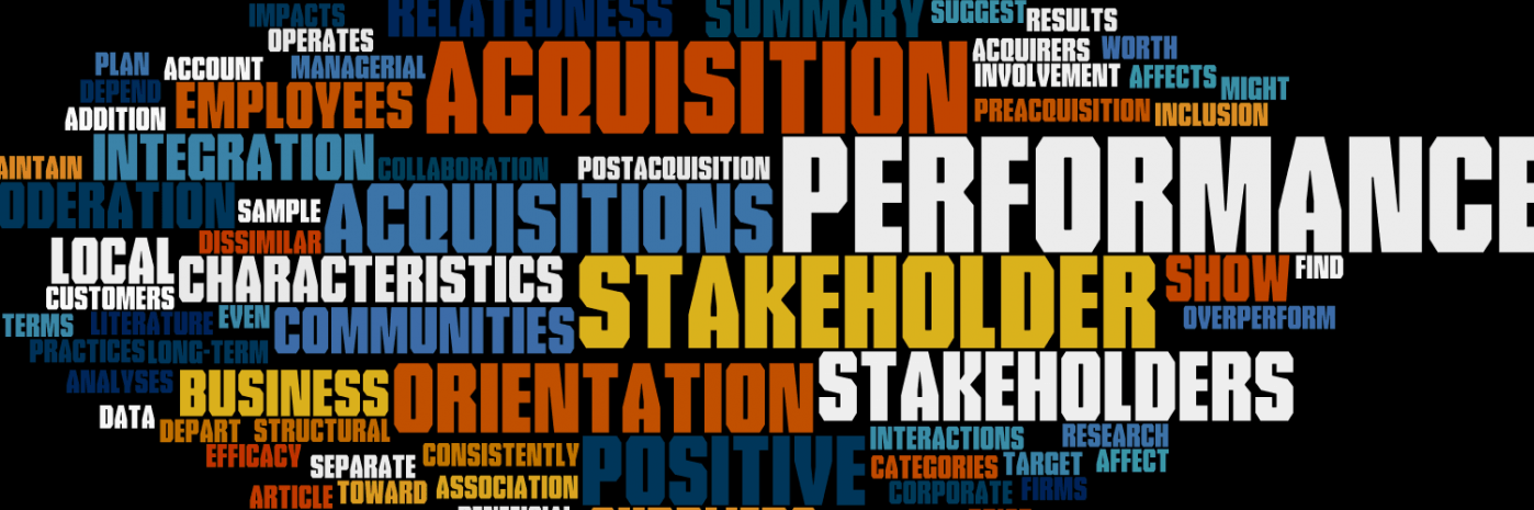 Stakeholder Orientation and Acquisition Performance