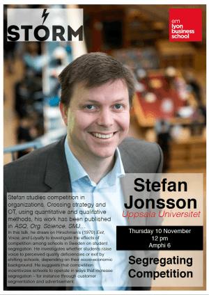 10November 2016: STEFAN JONSSON (Uppsala U.)