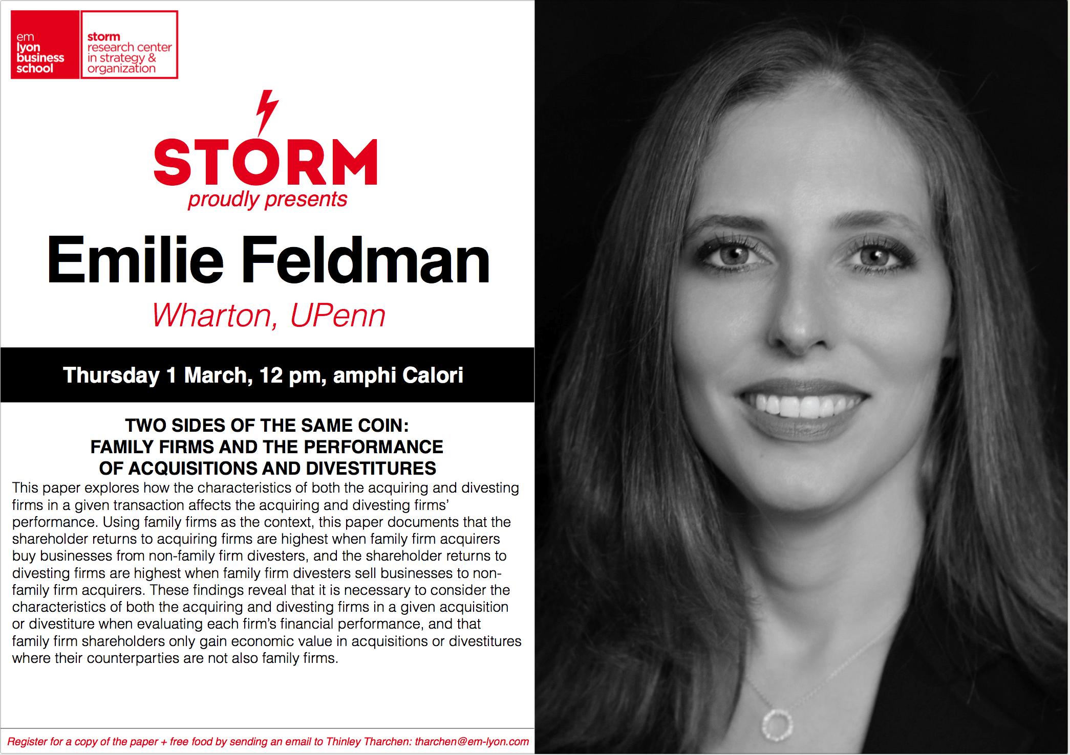 01 March 2018: EMILIE FELDMAN (Wharton, U. Penn)