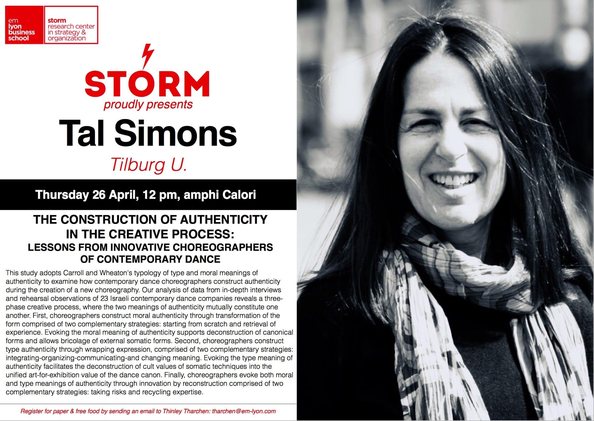 26 April 2018: TAL SIMONS (Tilburg U.)