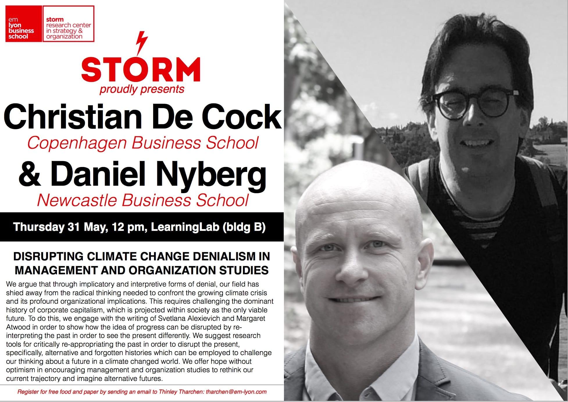 31 May 2018: CHRISTIAN DE COCK (CBS) & DANIEL NYBERG (Newcastle)