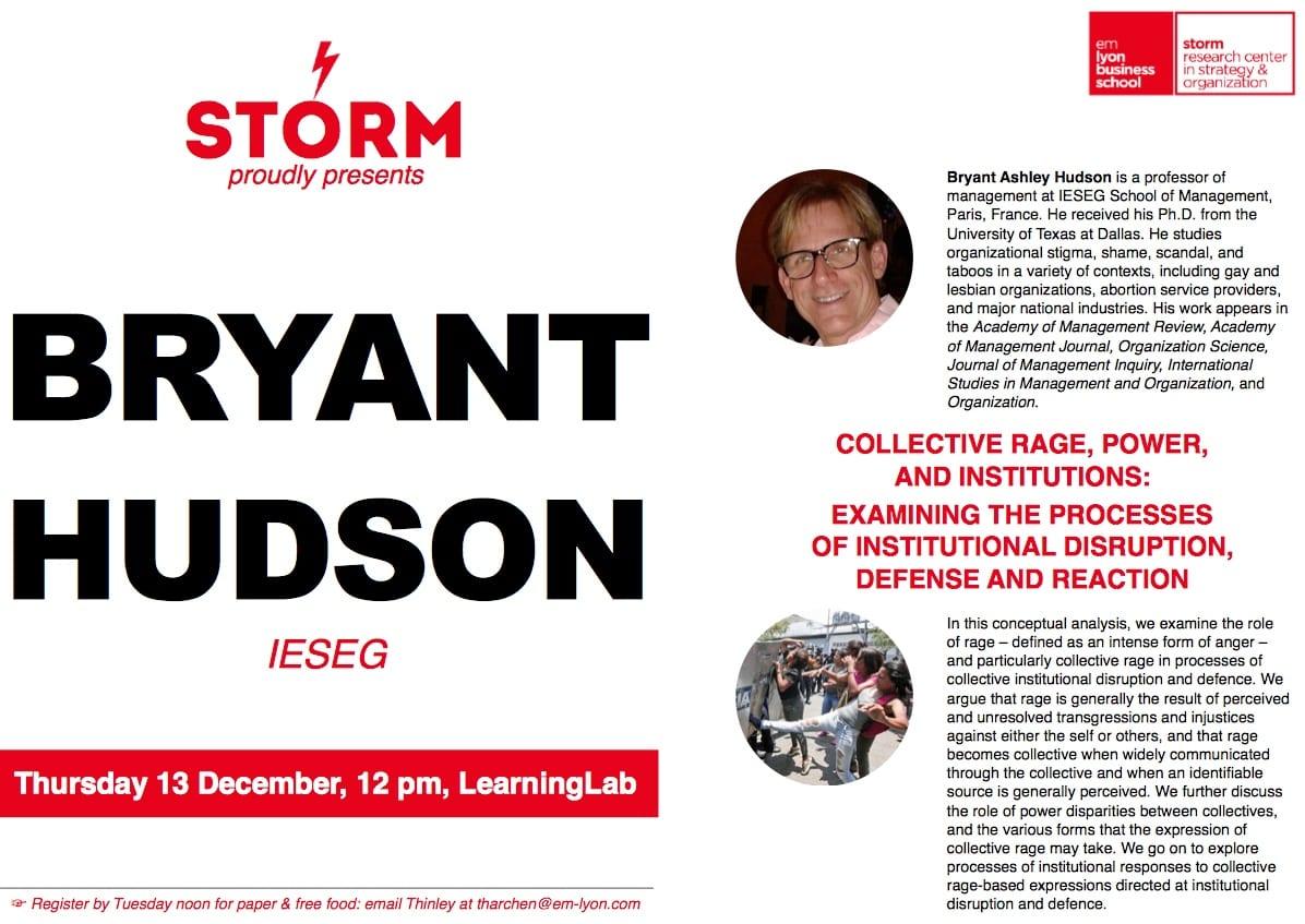 13 December 2018: BRYANT HUDSON (IESEG)