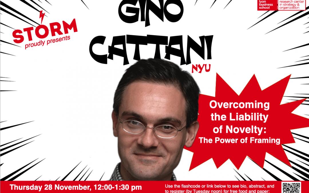 28 November 2019: GINO CATTANI (NYU)