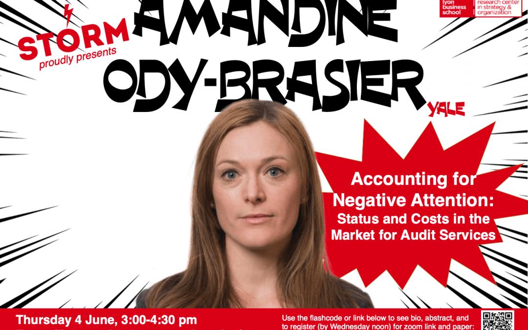 4 June 2020: AMANDINE ODY-BRASIER (Yale)