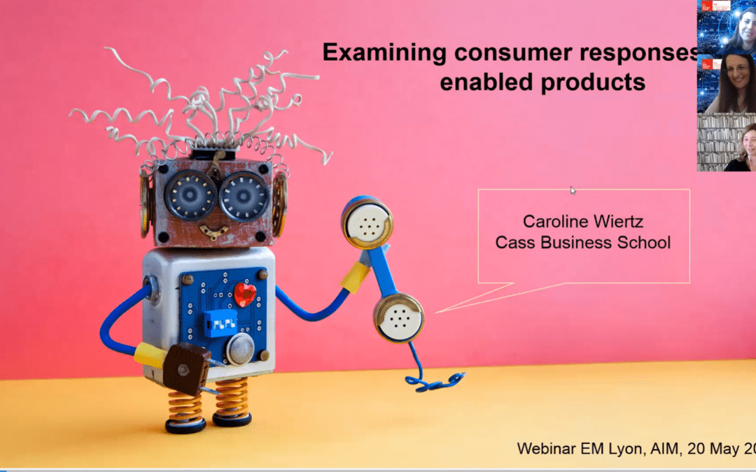 Examining consumer responses to AI enabled products