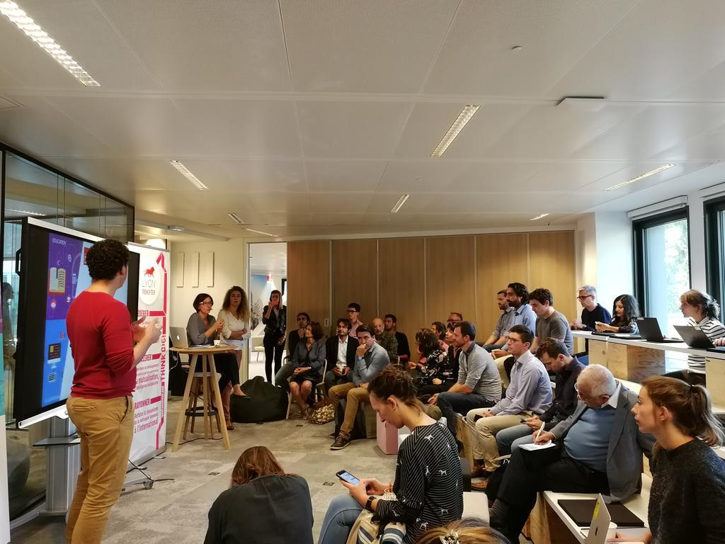 Belle mobilisation pour le 2ème Meet Up du Réseau thématique EdTech co-animé par l'Accélérateur emlyon business school, Imaginove et Lyon French Tech.