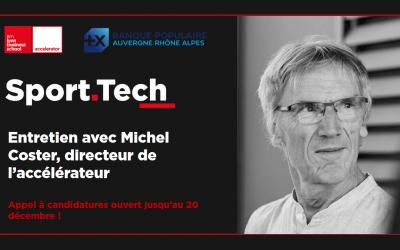 Programme Sport Tech : entretien avec Michel Coster, directeur de l'accélérateur