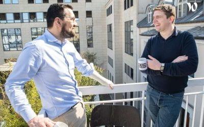 Comment emlyon constitue un terrain d'expérimentation pour les start-up de l'accélérateur :  interview croisée d'Alban Peleszko, CEO de IOGA et d'Alice Riou, professeur