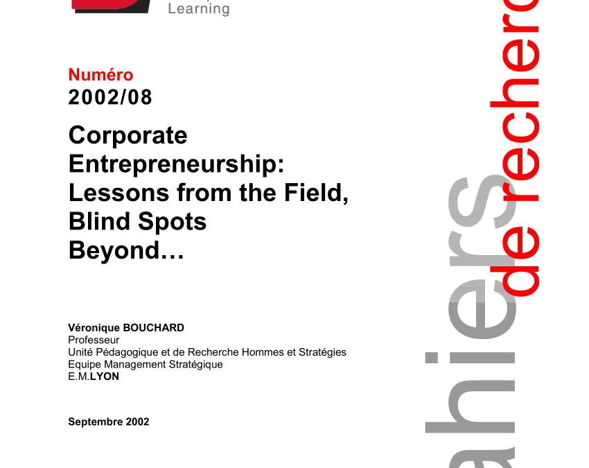 Corporate Entrepreneurship: Lessons from the Field, Blind Spots Beyond (Eng)