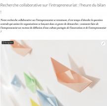 Recherche collaborative sur l'intrapreneuriat : l'heure du bilan!